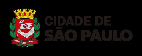 Brasão da cidade de São Paulo a esquerda e com os dizeres Cidade de São Paulo a direita